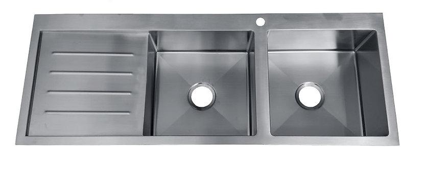 Impact Stainless Steel Flushmount 1 3/4 Bowl & Drainer Sink