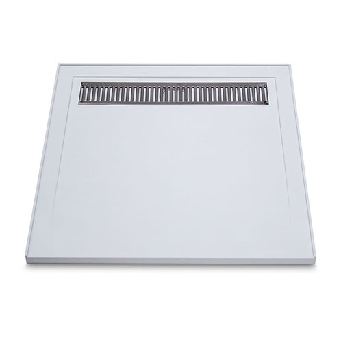 Low Profile SMC Shower Base with Grate 900x900mm