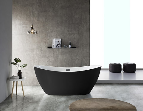 Exon Black/White Freestanding Bath