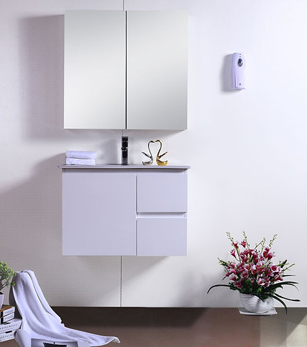 Snowy White Gloss 750mm Wall Hung Vanity