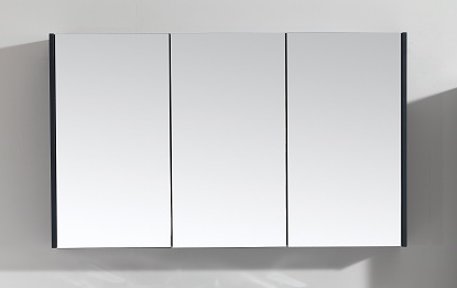 Scuro Navy 1200mm Mirror Wall Cabinet