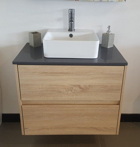 Nutro 750mm Light Oak Wall Hung Vanity
