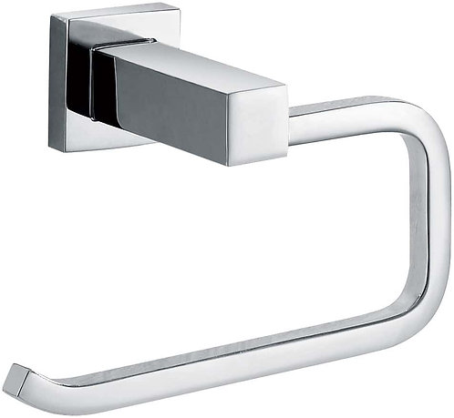 Block Chrome Toilet Roll Holder