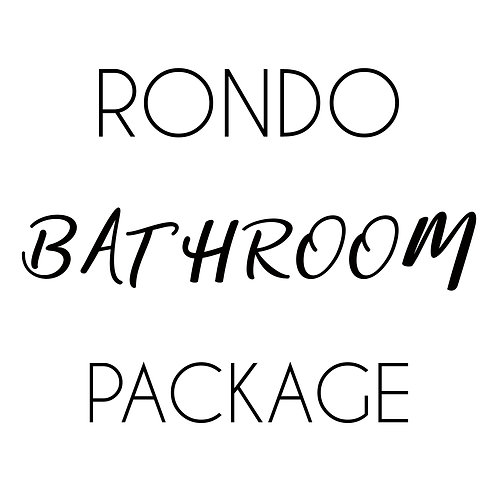 RONDO Bathroom Package