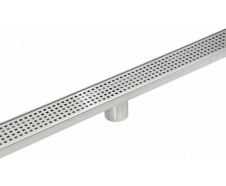 Stainless Steel Square Pattern Channel Shower Grate