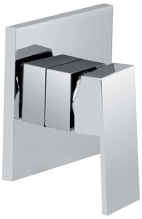Block Chrome Square Shower Mixer