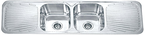 Dante Stainless Steel Double Bowl Double Drainer Kitchen Sink