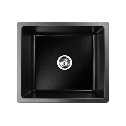 Black Granite Quartz Square Bowl Sink