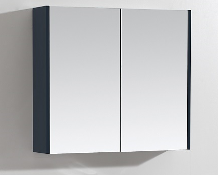 Scuro Navy 900mm Mirror Wall Cabinet