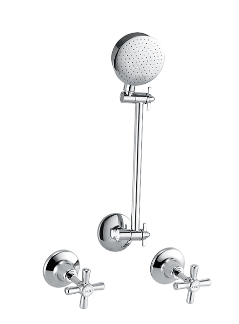 Mod Chrome Shower Set