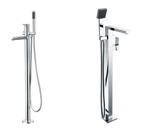 JAMIE Pin Handle Freestanding Bath Mixer Chrome