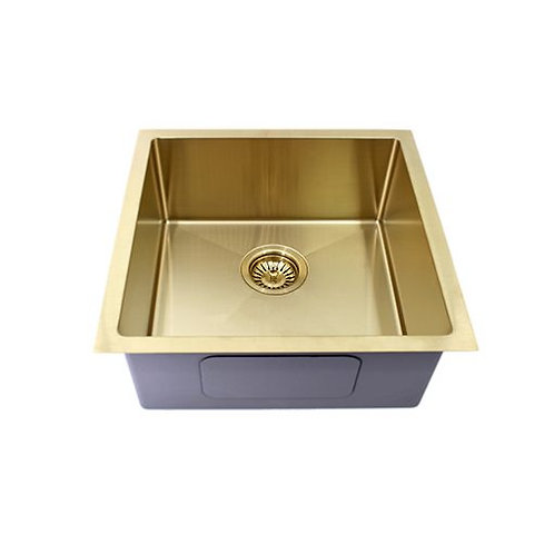 Cibo Brushed Bronze Single Bowl Sink Stainless Steel 450x450mm
