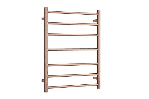 Rondo Rose Gold 7 bar Heated Towel Ladder