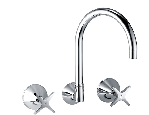 Spin Wall Sink/Laundry Set Chrome