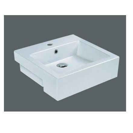 Square Ceramic Semi Recessed Basin