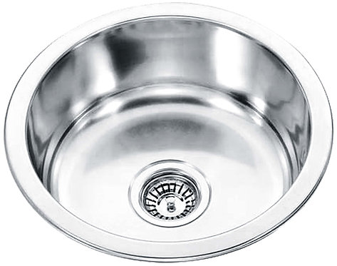 Stainless Steel Round Inset Single Bowl Sink