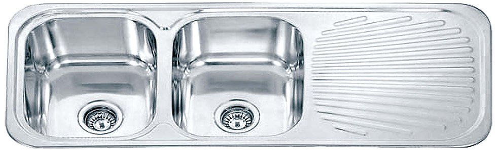 Dante Stainless Steel Double Bowl Kitchen Sink