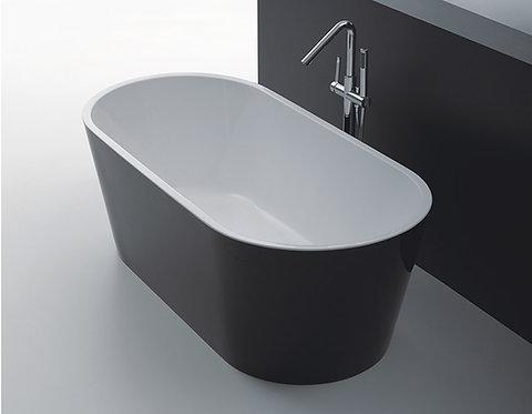 Rondo Black Freestanding Bath