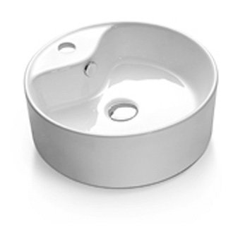 Round Ceramic Above Counter Vanity Basin