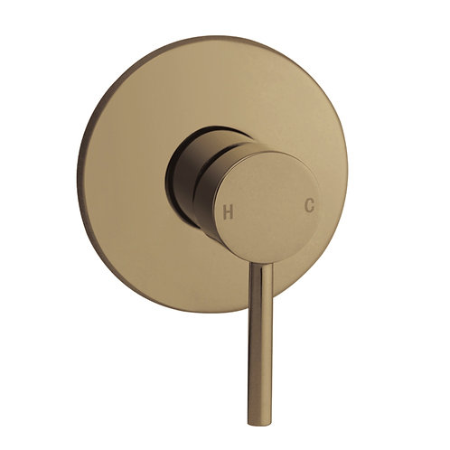 Rondo Brushed Brass Single Lever Wall Mixer
