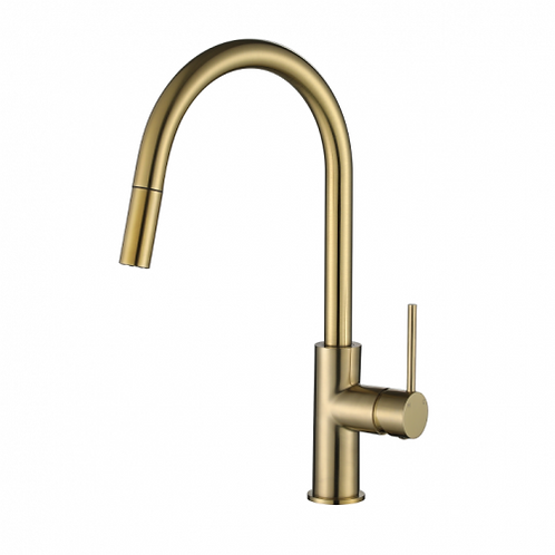 Star Mini Brushed Bronze Pull Out Kitchen Mixer