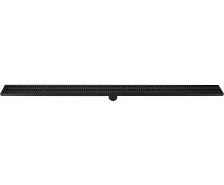 Black Stainless Steel Square Pattern Channel Shower Grate