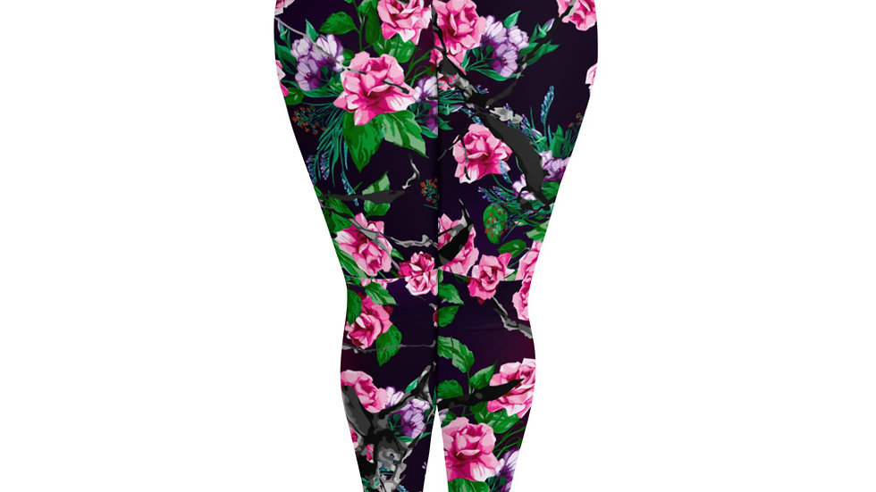 """""""Pink Rose Garden"""" Baddie Leggings"""