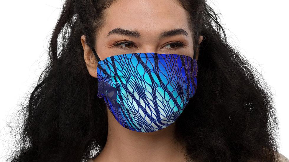 Blue Lace Face Mask