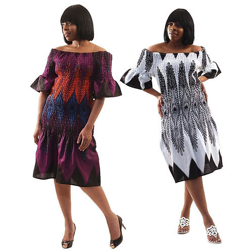 South African Collection ~ Elastic Peacock Dress