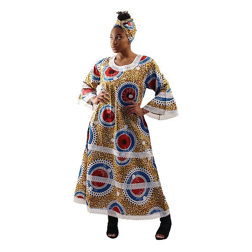 ImPowered Pick ~ African Print Gown w/Lace