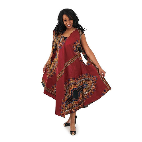 South African Collection ~ Traditional Print Umbrella Dress