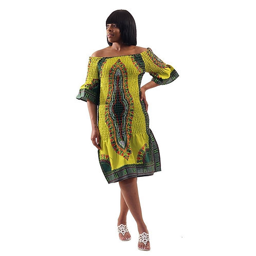 ImPowered Picks ~ Elastic Traditional Print Dress