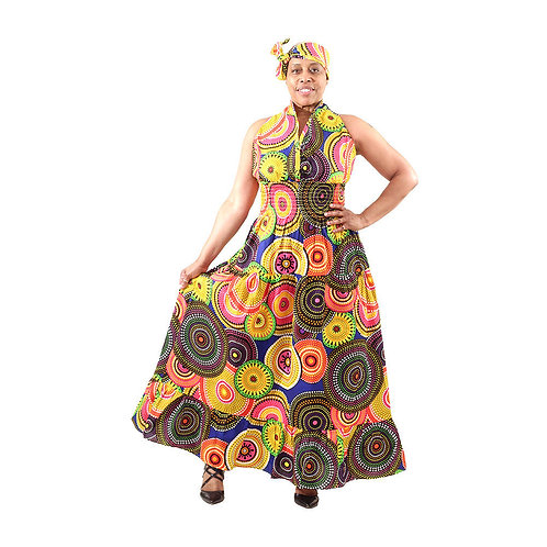 South African Collection ~ MultiColor 56'long, 26'-52'waist, up to 52' bust