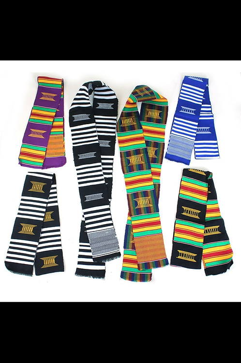 South African Collection- Set of 6 Woven Kente Sashes