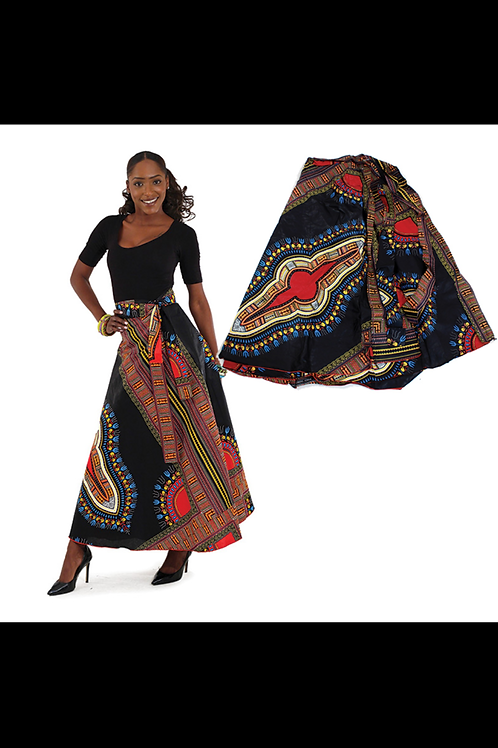 South African Collection ~ Traditional Print Panel Skirt