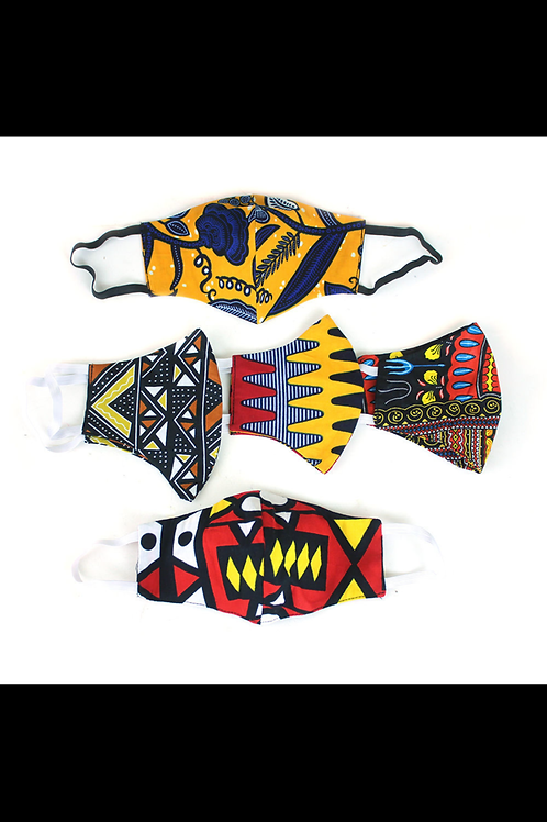 ImPowered Pick ~ Set of 5 Ghanaian Face Masks