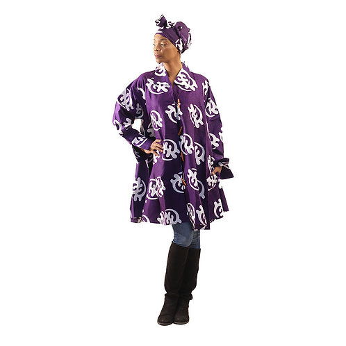 "South African Collection ~ Gye Nyame Smock upto 60""bust and 38""L"