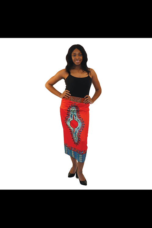 South African Collection ~ Traditional Print Stretch Skirt