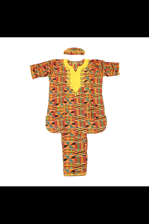 South African Collection ~ Embroidered Kente #2 Pant Set
