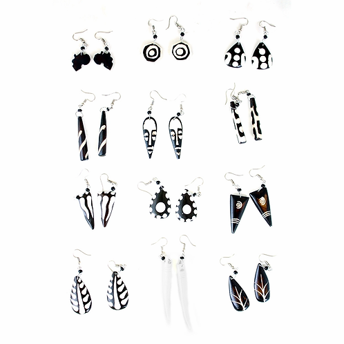South African Collection ~ Bone Earring Sets