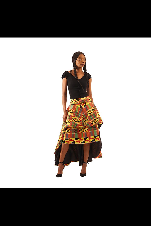 South African Collection ~ Kente Hi-Lo 2-pc Skirt