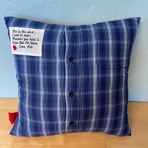 Standard Memory Pillow with embroidered patch