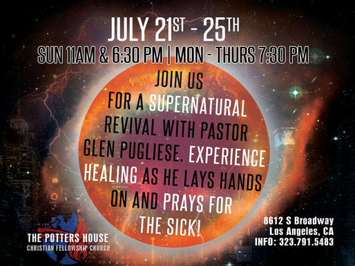 REVIVAL WITH EVANGELIST GLEN PUGLIESE