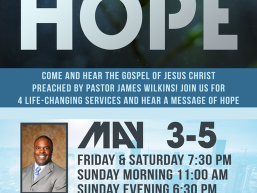 REVIVAL WITH PASTOR JAMES WILKINS