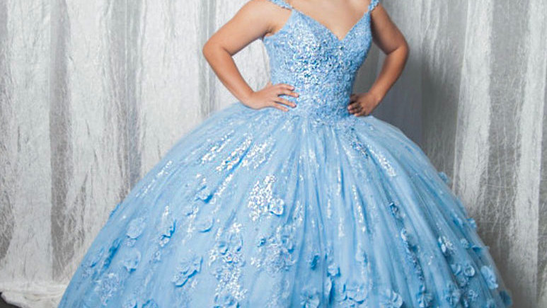 Mori Lee Two Strap Quinceanera Gown