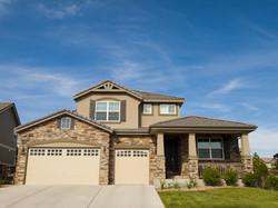 House in suburban development of Denver, Colorado