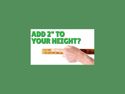 Add 2 Inches to Your Height in 1 Day