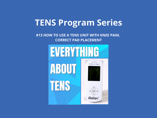 TENS Program Series 13. How to Use a TENS Unit with Knee Pain. Correct Pad Placement.