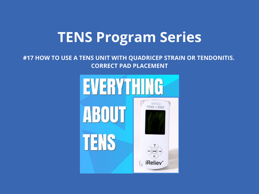 TENS Program Series 17. How to Use a TENS Unit with Quadricep Strain or Tendonitis. Pad Placement.