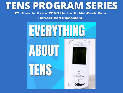 27. How to Use a TENS Unit with Mid-Back Pain. Correct Pad Placement.